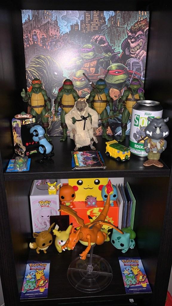 Ninja Turtles and Pokémon collectibles
